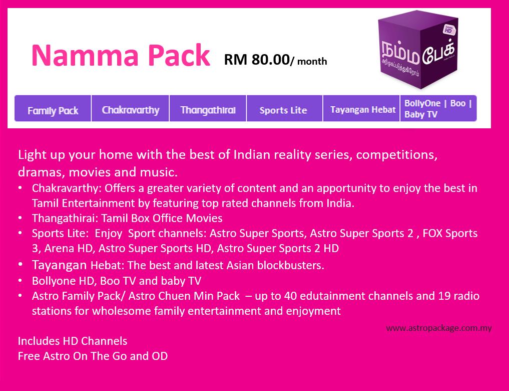 Astro Package Namma Pack DEsc