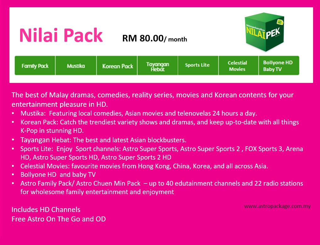 Astro Package Nilai Pack Desc Update
