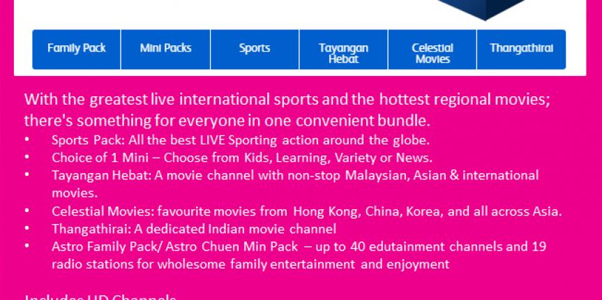 Astro IPTV Fans Pack