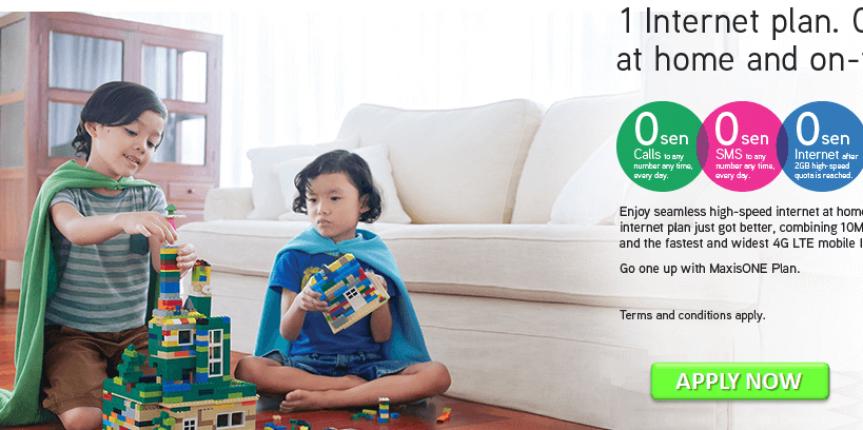 Maxis home fibre internet promotion – 1 internet plan